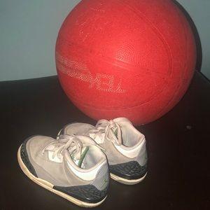 Baby Air Jordan III Retro OG Basketball shoes sz 7